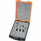 Alcock Carbide End Mill Set 4 Piece Metric