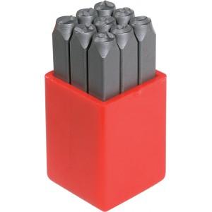 Geiger Number Stamps 6mm