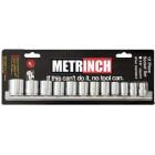 Metrinch 12 Piece 3/8 Inch Socket Set