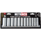 Metrinch 12 Piece 3/8 Inch Deep Socket Set