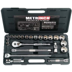 Metrinch 24 Piece 1/2 Inch Socket Set