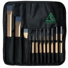 Rennsteig 11 Piece Chisel and Punch Roll