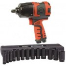 Shinano SI1490 1/2 Inch Air Impact Wrench c/w 1/2 Inch 13 Piece Imperial Socket Set