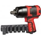 Shinano SI1550 3/4 Inch Impact Wrench c/w 3/4 Inch 8 Piece Imperial Socket Set