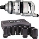 Shinano SI1770T 1 Inch Air Impact Wrench c/w 1 Inch 9 Piece Imperial Socket Set