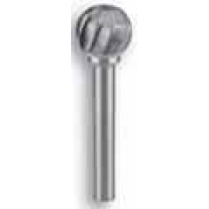 Unikut Ball Shape Aluminium Cut Carbide Burr (1/4 inch Shank - 5/8 inch Head)